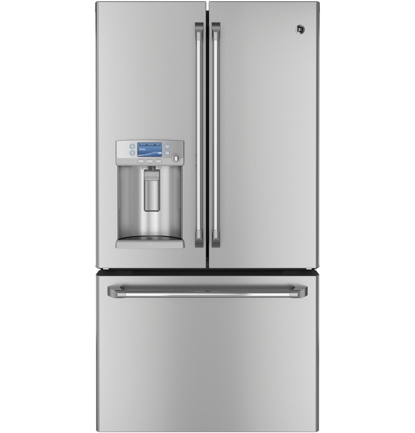 Counter Depth French Door Refrigerator Stainless GE CYE23TSDSS Cafe 23.1 Cu. Ft. Stainless Steel Counter ...