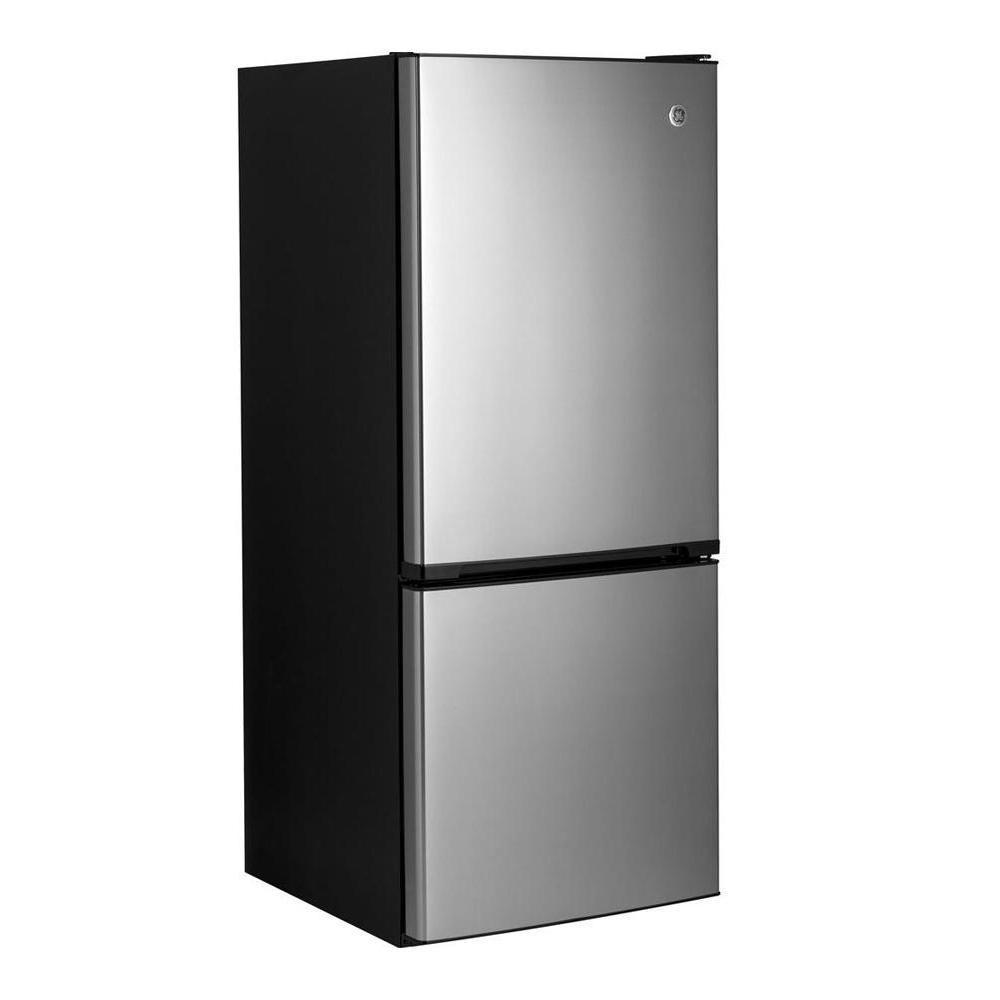 Ge 24 Single Door Bottom Freezer Fridge In Stainless